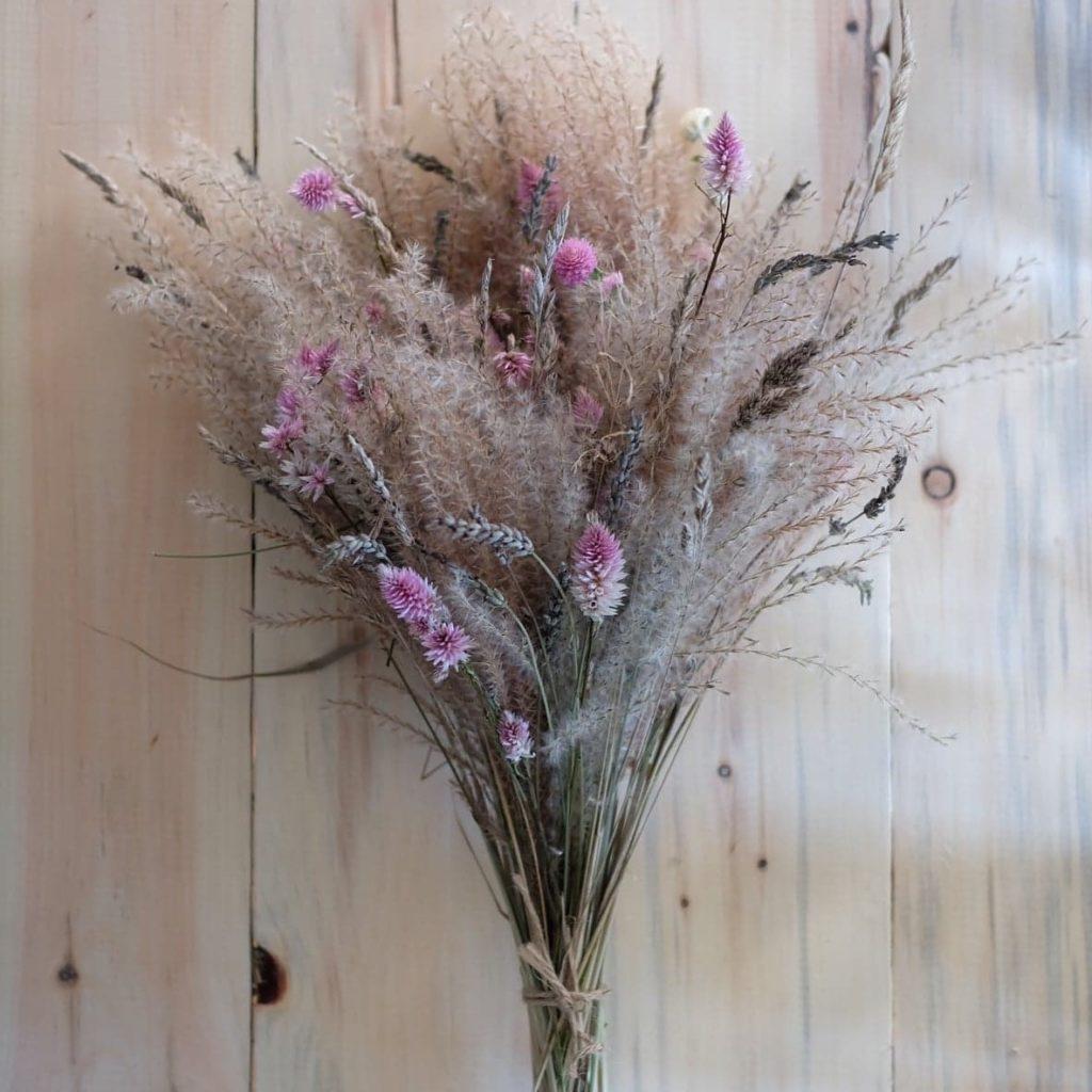 bouquet fleurs séchées magog lavande celosia