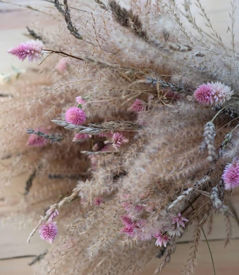 bouquet fleurs séchées magog