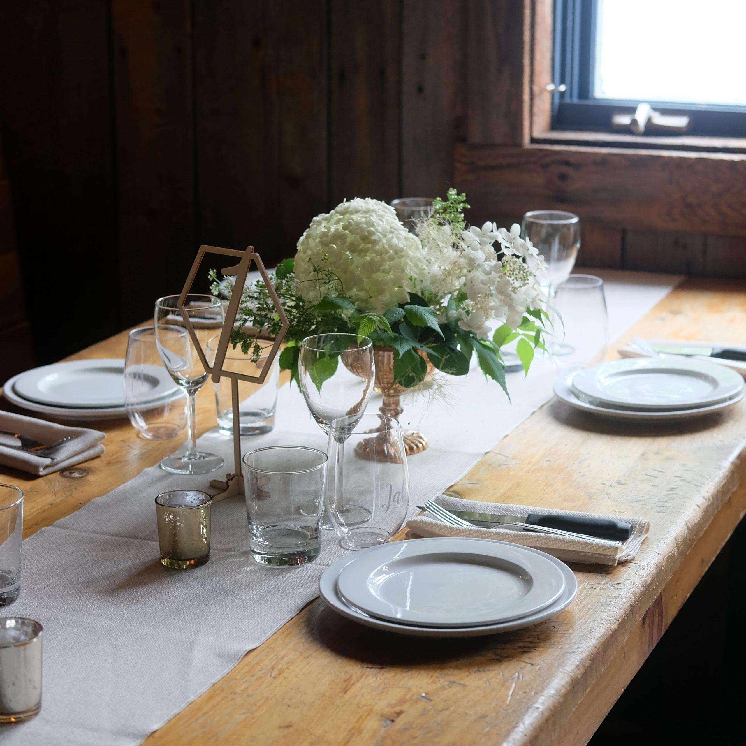mariage centre de table canton de l'est