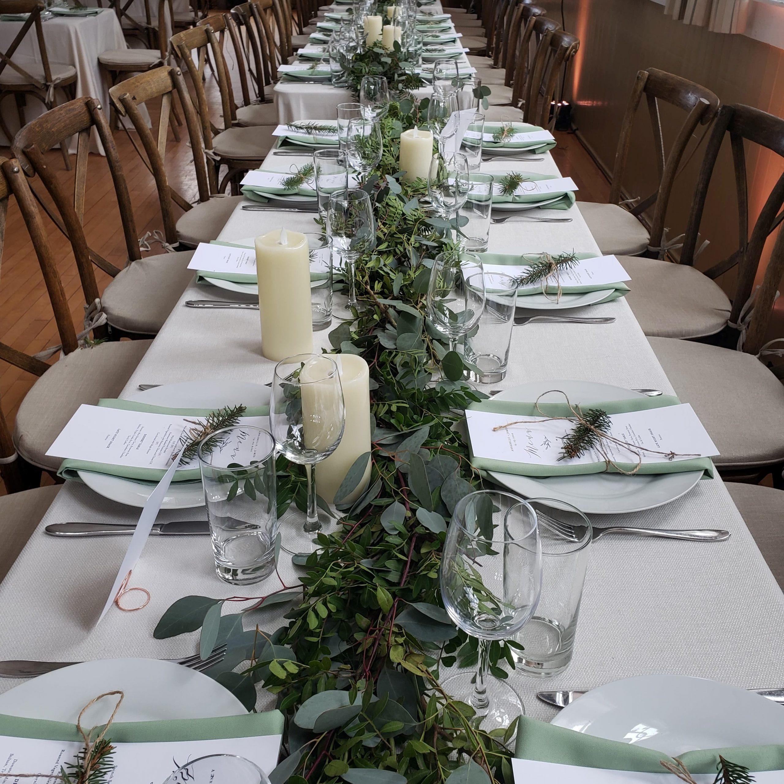 centre de table mariage hiver