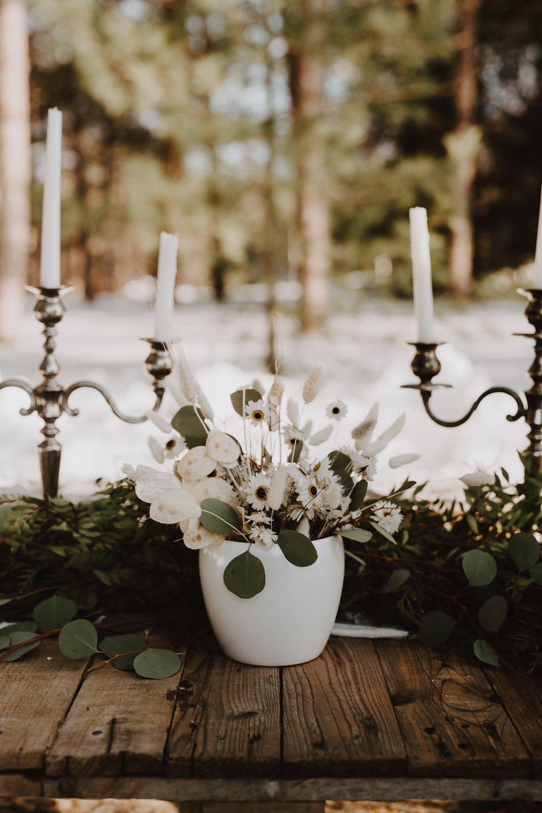 mariage hiver fleurs séchées