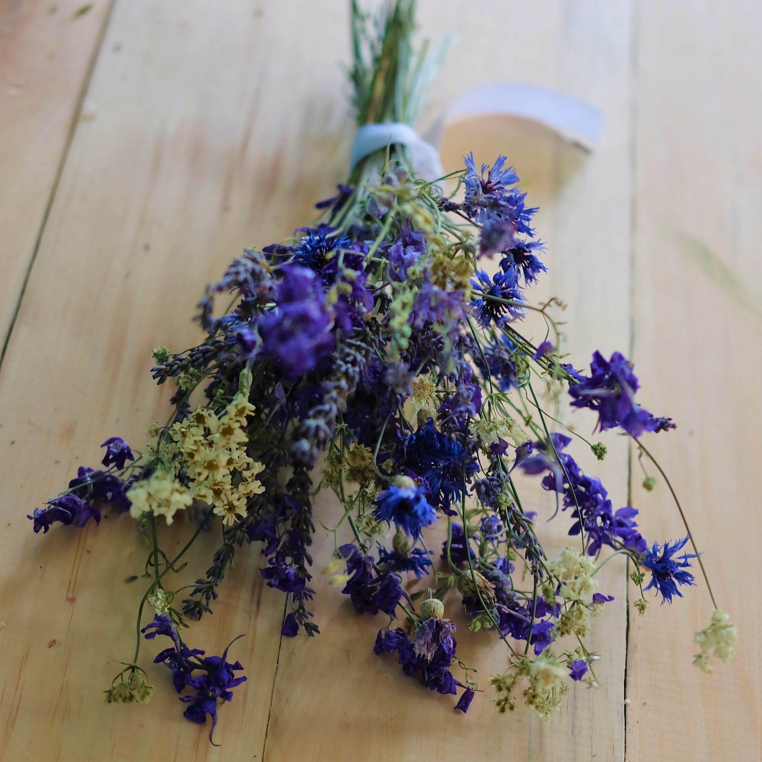 fleurs séchées mariage hiver