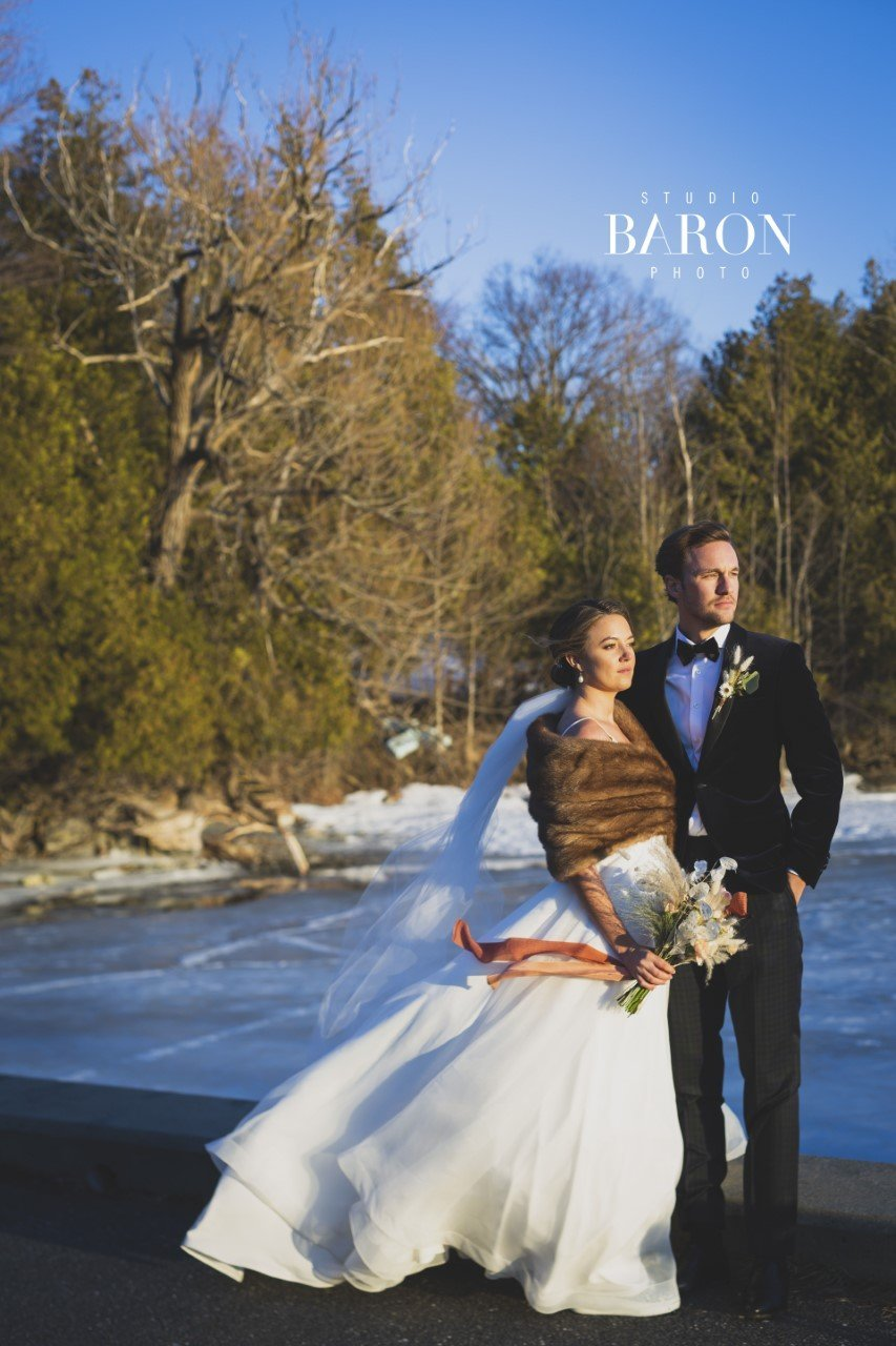 mariage hiver quebec fleurs