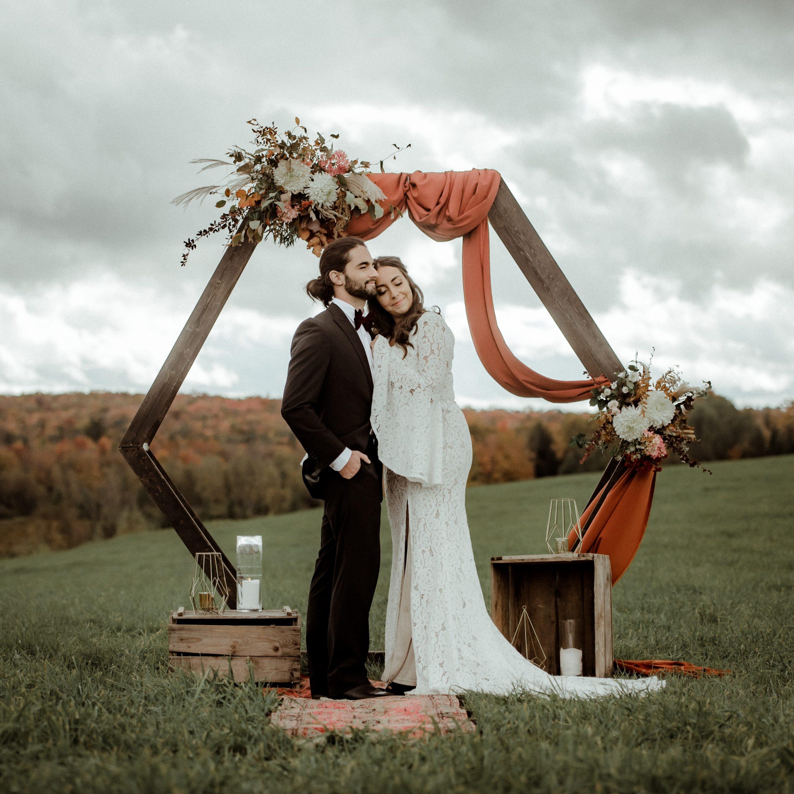 fleurs mariage automne cantons-de-l'Est