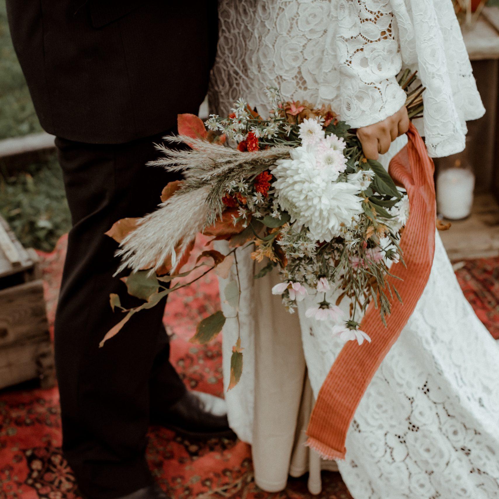 bouquet de la mariée magog automne mariage