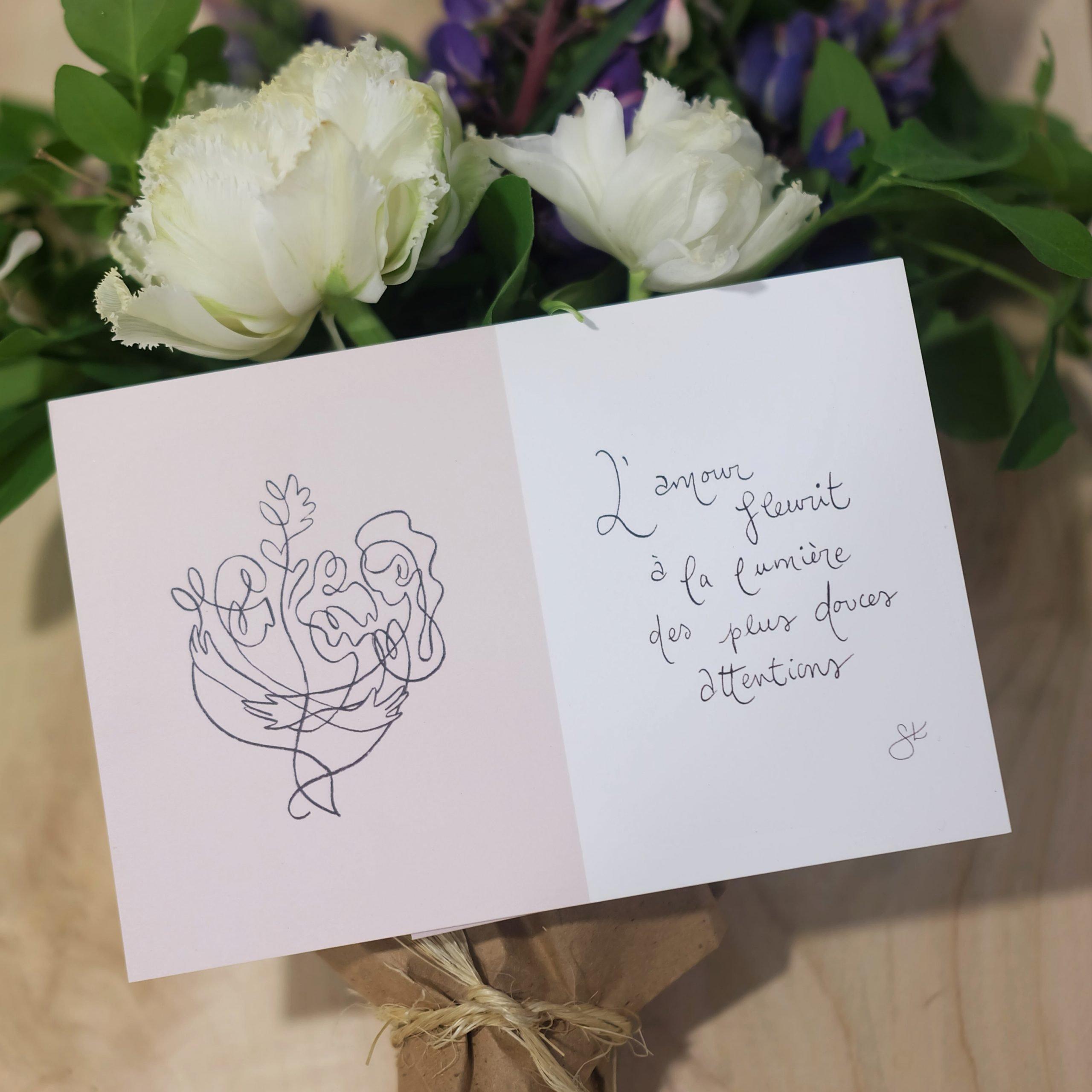 carte commande bouquet magog